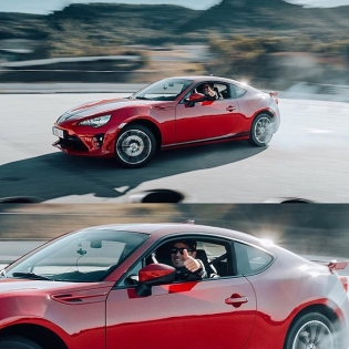 Drifting into the almost-weekend like 😎 #GT86 #ToyotaNation (Photo by @dennisnoten)