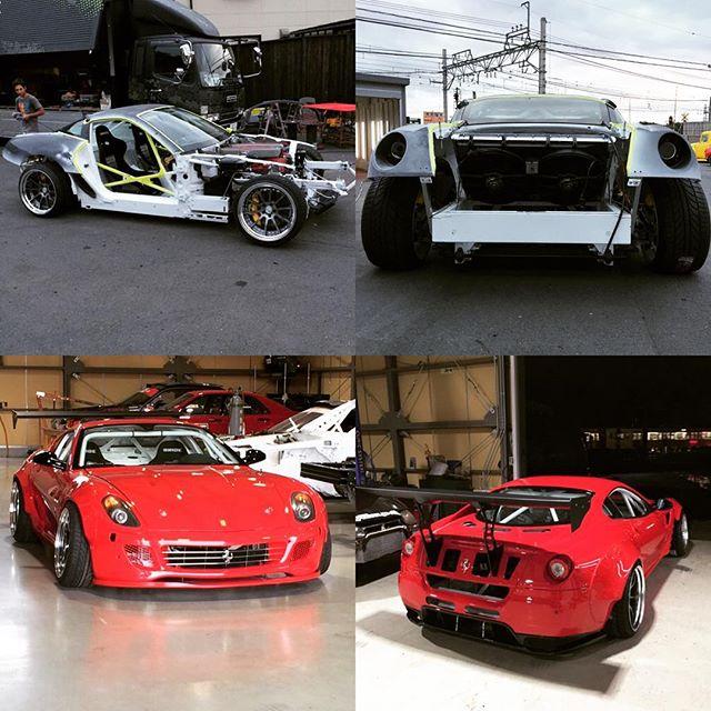Fat Five Racing aero parts  for Ferrari 599 drift !