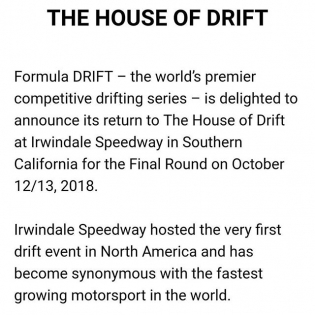 Formula Drift Irwindale October 12 / 13 2018