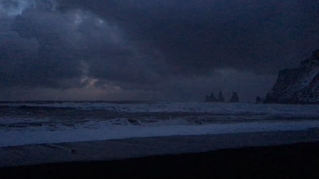 Incredible views at Black Sand Beach tonight. Crappy iPhone vid does it no justice, but here it is anyway.