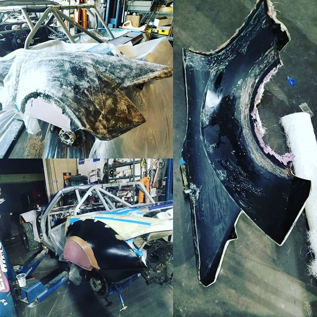 KMR Team has been hard at work! New body work aero package for 2018. Video link In bio!