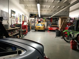 Late night hangs at the shop with @dylanhughes129. Packing up the last bits and heading for our new spot at @race.service! We will be finishing up the pro car as well as many other things leading up to the first round of FD! #biggerandbetter