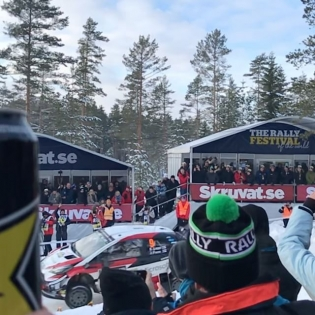 Rally doesn't get better! Watching the @tgr_wrc guys and the rest of the WRC field fly here at Colin's Crest in Sweden! #ToyotaNation #GazooRacing @rockstarenergy