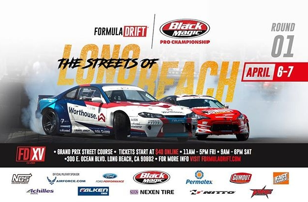 RD1: The Streets of Long Beach. T-Minus 45 Days Away! Tag a friend you are coming with! Tickets on Sale now: bit.ly/FDLB2018 #FormulaDRIFT #FormulaD #FDXV #FDLB