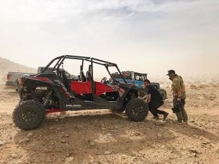 "Rigging up the @polarisrzr and chasing @vaughngittinjr in his Ultra4 ""Brocky"" around the desert was my highlight of the weekend! Vaughn has been killing it in the desert scene for the past year and I'm pumped to start dipping my toes in!"