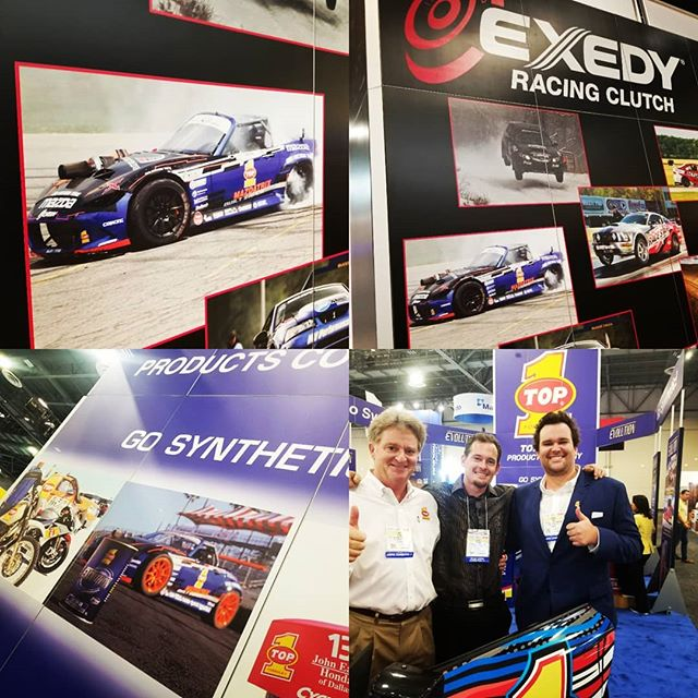 SEMA 2017 @exedyusa & @top1oilusa for the support and awesome displays with our fire breathing MX5.  @americanethanol  @growthenergy @driftillustrated #fuelsafe