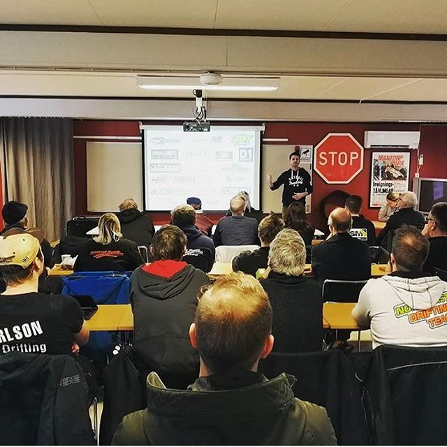 Thank you to the Swedish Motorsports people for inviting me to speak about drifting at their 2018 season conference! Drifting is still growing around the world and I'm happy to support it in any way I can! : @xtremerescueteam