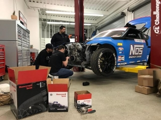 The boys from @fastintentions stopped by last night to take some measurements on the FD car for the new custom front half that they are building for us. Custom intercooler and charge piping to flow 1000hp while keeping everything in a tight and light package! #fueledbypassion