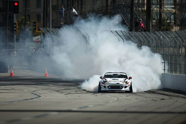 The GUSH is LOOSE.  @KenGushi | @FalkenTire | @TeamGReddyRacing Tag a Gushi Fan!  RD1: Streets of Long Beach Apr 6-7th.  Tickets on Sale Now: bit.ly/FDLB2018 (link in bio)