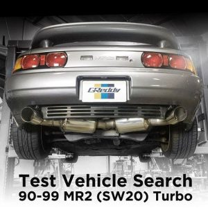 "GReddy Performance Products R&D dept. is in search of a good condition 90-99 Toyota #MR2 ( #SW20) Turbo in the So. Cal area for confirmation testing of our revised Evolution GT exhaust system. Interested parties, please contact us at sales@greddy.com with contact info, vehicle specifics and photos of the rear of your vehicle. - Subject ""MR2 Exhaust Prototype"" We are also currently looking for 94-99 Integra GSR and 2018 Accord Sport (preferably 6 spd)"