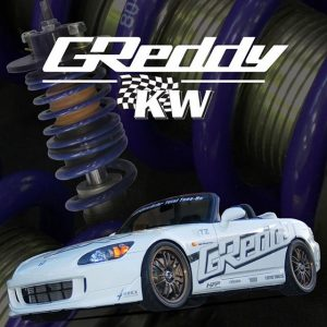 #GReddyByKW Coilovers * GREDDY TUNED APPLICATIONS - Comfortable Linear Springs and special Damping. * KW QUALITY, INNOVATION & CONSTRUCTION- Manufactured at KW Germany. * ADJUSTABLE FOR USA STREETS & TRACKS- Comfortable, but still adjustable for the track use. * HONDA AP1 / AP2 S2000 - P/N 14056101 - MSRP $1550. * Aluminum, Spherical bearing uppers (most) * 18-way adjustable dampening settings * KW Cold-wound, Linear race springs * KW advanced, low friction, twin-tube dampening * Corrosion-resistant, body, piston rod, spring seats * Integrated bump stop and dust boot * Optional GReddy by KW Sway-bars coming…