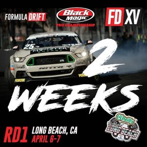 Only ️weeks from our 15 Year Anniversary Season Opener at The Streets of Long Beach! Tag a friend you are coming with! Ticket available: (link in bio) #FormulaDRIFT #FormulaD #FDLB #FDXV