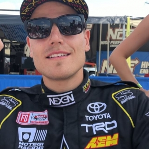 "Congrats @fredricaasbo @nexentireusa for qualifying first! To celebrate we are rewarding all of our FD app users  points. Use code ""Aasbo99"" to redeem! #FormulaDRIFT #FormulaD #FDXV #FDORL"