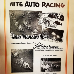 Cool old poster from #ascotspeedway Who's ready for this weekend! #formulad #kylemohanracing