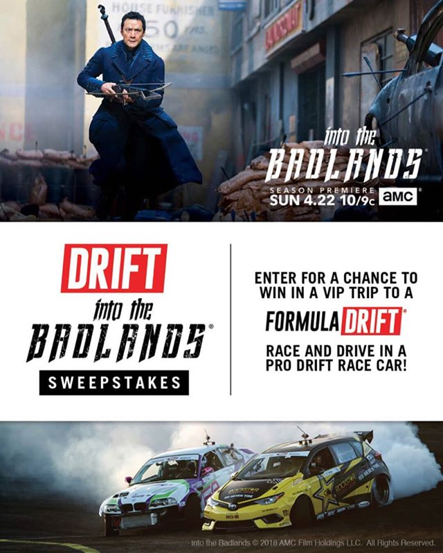 Ever wanted to drive in pro drift race car? AMC and FD are teaming up to give away a VIP Experience and a ride-along to Irwindale. Find out how on our homepage.