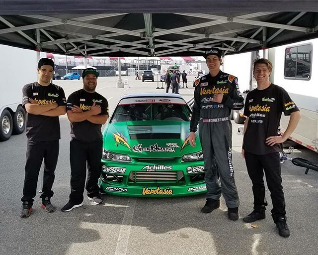 get nuts lab team out here for @formulad 2018 Media Day. make sure to come out and see us here in Long Beach this Fri and Sat, tickets available on the @formulad website. gonna be a great season boys and girls, watch out for the wang