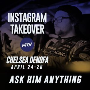 It's DeNofa Day! Ask @nittotire's @chelseadenofa anything. @advanceautoparts RD2: Scorched Presented by Fast Orange by @permatexusa in Orlando, FL on April 27-28. Get your tickets in the link in our bio. #FormulaDRIFT #FormulaD #FDXV #FDORL