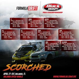 Livestream times for @formulad Orlando this weekend! #drifting #formulad