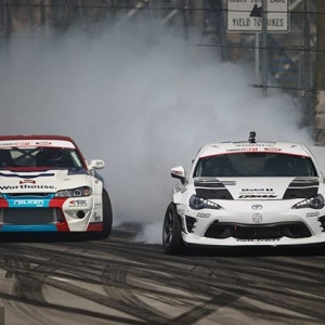 New teammates, same rivalry. @FalkenTire's @kengushi and @piotrwiecek are looking forward to Round 2: Scorched The battles continue in Orlando, FL - April 27-28. Tickets link in our bio. #FormulaDRIFT #FormulaD #FDXV #FDORL