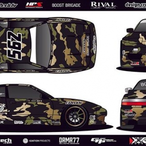 Now You See Him, Now You Don't. @SeanAdriano of @AchillesTire | @boostbrigade debut his new Camo livery for the Pro2 Formula Drift Season! #FormulaDRIFT #FormulaD #FDXV