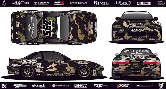 Now You See Him, Now You Don't. @SeanAdriano of @AchillesTire | @boostbrigade debut his new Camo livery for the Pro2 Formula Drift Season!