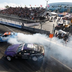 Shoutout to all of the fans in attendance and those that tuned into the livestream! @nexentireusa's @chrisforsberg64 vs. @nittotire's @chelseadenofa We'll see you in Orlando, April 27-28! Tickets link in our bio #FormulaDRIFT #FormulaD #FDXV