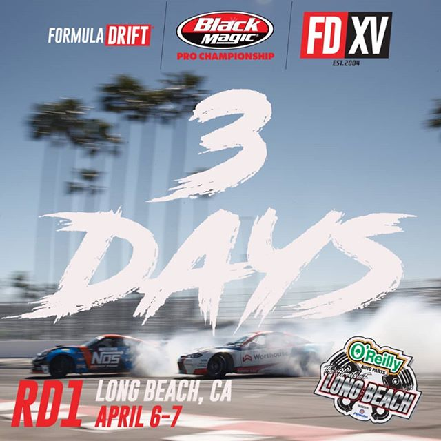 Three cheers!! Only 3 days until we hit The Streets of Long Beach for our 15 Year Anniversary Season Opener!  Watch the Livestream, April 6-7 (link in bio)