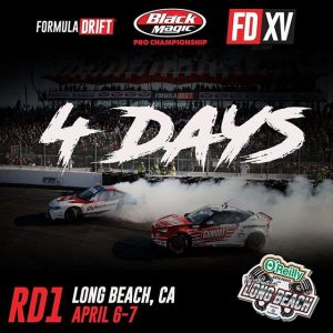 We're only 4 days away from our 15 Year Anniversary Season Opener at The Streets of Long Beach! @ the driver you're most excited to see. April 6-7th Catch the Livestream (link in bio) #FormulaDRIFT #FormulaD #FDXV #FDLB