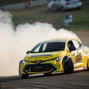 @fredricaasbo | @nexentireusa | @toyotaracing is collecting podiums like Infinity Stones . #FDATL makes three straight podiums on the season! The battles continue at @advanceautoparts RD4: The Gauntlet presented by @blackmagicshine in Wall, NJ on June 1-2. Tickets link in our bio. #FormulaDRIFT #FormulaD #FDXV #FDNJ