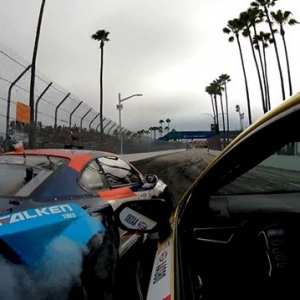 A look back at #FDLB | @fredricaasbo and @piotrwiecek putting on one crazy show for the fans! @gopro #FormulaDRIFT #FormulaD #FDXV