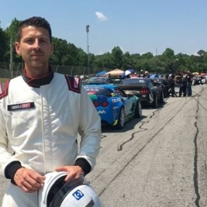 "A quick explainer for the ""judge playing race car driver"" you may have seen walking around @formulad Atlanta. I'm sweating it out with the drivers to get up to speed on these modern, grippy, high-horsepower drift cars. Mush respect to all the drivers for competing at such a high level in these crazy war machines! #drifting #judging #fdatl #formuladrift"
