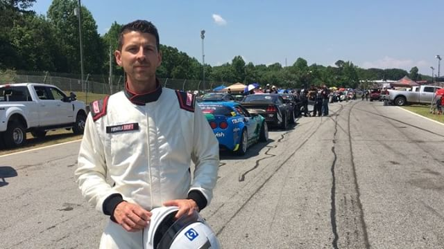 "A quick explainer for the ""judge playing race car driver"" you may have seen walking around @formulad Atlanta. I'm sweating it out with the drivers to get up to speed on these modern, grippy, high-horsepower drift cars. Mush respect to all the drivers for competing at such a high level in these crazy war machines!"