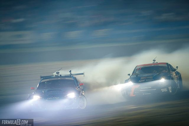 Beamin' Who caught this battle at between @DaiYoshihara | @FalkenTire vs @ChrisForsberg64 | @NexenTireUSA ?  Catch them next @advanceautoparts RD4: The Gauntlet presented by @blackmagicshine in Wall, NJ on June 1-2. Tickets: Link in Bio