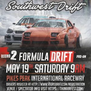 Can't get enough drifting!? This Saturday (5/19) check out the Southwest Drift Series Pro/Am at @ppir! More info from @vegasdrift