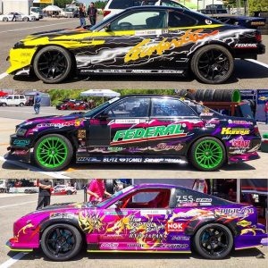Colourful trio at @formuladjapan. #fdliveries #fdjapan #drifting #s15 #jzx100 #s13