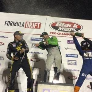 Congratulations to @hgkracingteam in 1st place, @fredricaasbo in 2nd and @chrisforsberg64 in 3rd at @formulad Atlanta! #fdatl #formulad #formuladrift #drifting