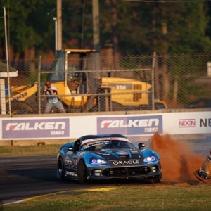 Fun times in the Dirty South @achillestire's @deankarnage kicking cones and taking names at NAPA Auto Parts RD3: Road to the Championship presented by @officialrainx #FormulaDRIFT #FormulaD #FDXV #FDATL
