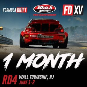 Only 1 Month until we head to New Jersey for @AdvanceAutoParts RD: The Gauntlet presented by @BlackMagicShine! June 1-2. Get Your Tickets: formulad.com #FormulaDRIFT #FormulaD #FDXV #FDNJ