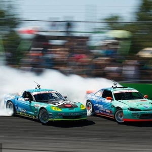 Same-Same, But Different Will Team @FalkenTire Frenemies @mattfield777 & @odidrift battle again atNAPA Auto Parts RD3: Road to the Championship presented by @officialrainx in Atlanta, GA on May 11-12!? Tickets link in our bio. #FormulaDRIFT #FormulaD #FDXV #FDATL