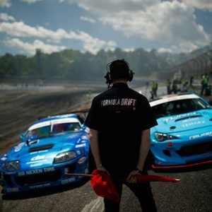 Show the flag! @raddandrift |@nexentireusa vs @daiyoshihara | @falkentire Who wins at @advanceautoparts RD4: The Gauntlet presented by @blackmagicshine at Wall, NJ on June 1-2? Tickets link in our bio. #FormulaDRIFT #FormulaD #FDXV #FDNJ #FD100