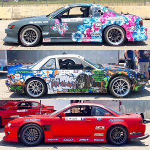 Some Pro2 liveries from @formulad Atlanta. #fdatl #fdpro2 #drifting #formuladrift #fdliveries