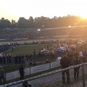 Sunset during the track walk at @formulad Atlanta! Top16 is coming up soon! #fdatl #formulad #formuladrift #drifting