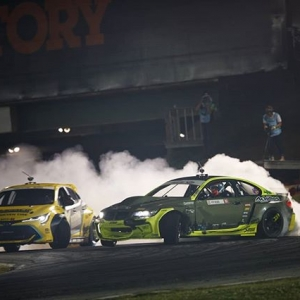 The Latvian Lover, @hgkracingteam, destroyed the competition today and won! @fredricaasbo came in second and @chrisforsberg64 finished in third. #fdxv #formuladrift #formulad #fdatl 📸@larry_chen_foto