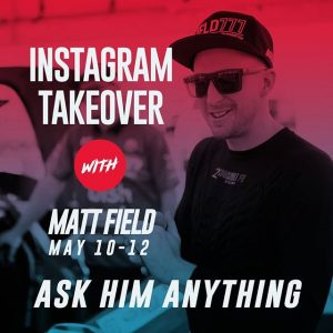 We're about to have a Field day! Ask @falkentire's @mattfield777 anything during NAPA Auto Parts RD3: Road to the Championship presented by @officialrainx in Atlanta, GA on May 11-12. Tickets link in our bio. #FormulaDRIFT #FormulaD #FDXV #FDATL