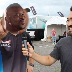 @robbienishida finds out out what your Favorite FD cars sound like on cold starts from the Drivers & Teams at RD4: The Gauntlet at Wall Stadium Speedway. Which is your Favorite sounding car? #FormulaDRIFT #FormulaD #FDXV #FD100 #FDNJ