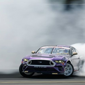 Cloudy with a chance of Mustang @chelseadenofa | @nittotire More drift clouds at @autozone RD5: Showdown presented by @officialrainx in Monroe, WA on July 20-21. Ticket: link in bio #FormulaDRIFT #FormulaD #FDXV #FDSEA