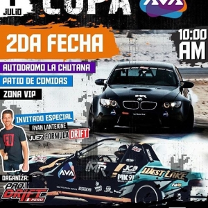 Excited to be attending @prodriftperu's 2nd round this weekend at the Autodromo La Chutana near Lima. Even more excited to be featured on their promotional material! #drifting #prodriftperu #nowacceptingmodelinggigs #😎