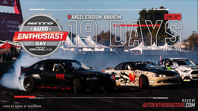 It's back! The 6th annual Auto Enthusiast Day presented by @nittotire.  Saturday, June 30th at Angel Stadium of Anaheim from 12pm - 7pm. The show is FREE for all spectators and will include a variety of activities, such as drifting and off-road demonstrations, a vendor midway featuring automotive products and giveaways, food trucks and much more.  www.autoenthusiastday.com