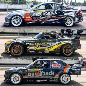 Mercedes CLK, Honda S2000 & BMW E30. Some variety at @gatebil_official. #gatebildriftseries #drifting #gatebil