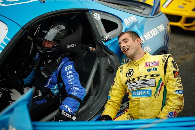 Party Not Always in the Back. CAPTION this photo! @raddandrift | @nexentireusa & @federicosceriffo17 | @nittotire  The fun continues at @autozone RD5: Showdown presented by @officialrainx in Monroe, WA on July 20-21. Ticket: Link in bio